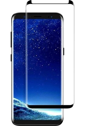 Case Street Samsung Galaxy S9 Plus Full Kapatan Renkli Cam Siyah