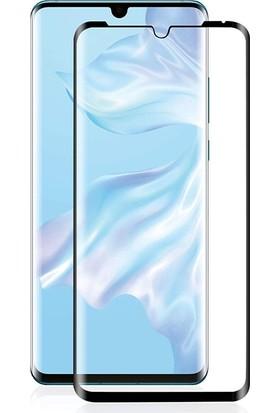 Case Street Huawei P30 Pro Full Kapatan Renkli Cam Tam Koruma Siyah