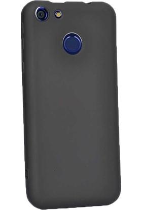 Case Street Vestel Venüs E4 Kılıf Premier Silikon Esnek Koruma+Nano Glass Siyah