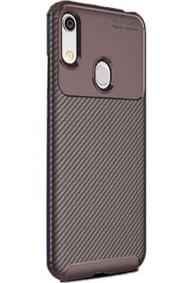Gpack Huawei Honor 8a Kılıf Negro Karbon Dizayn Silikon Kahverengi