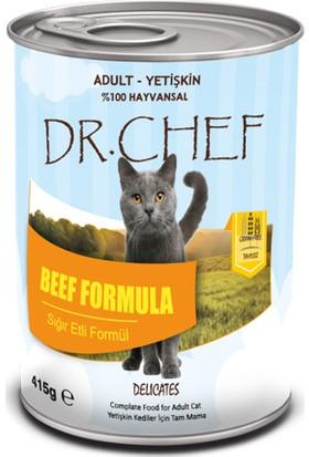 Dr.Chef Tahılsız Sığır Etli Kedi Konserve 415 Gr