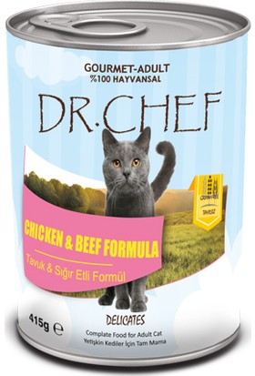 Dr.Chef Tahılsız Gurme Kedi Konserve 415 Gr
