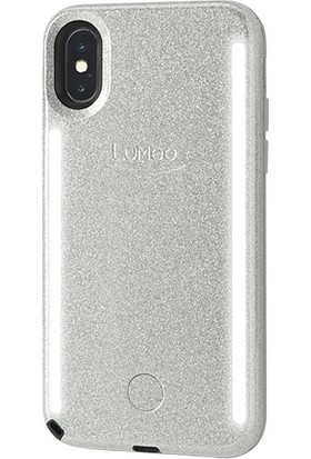 Lumee Duo iPhone X Silver Glitter