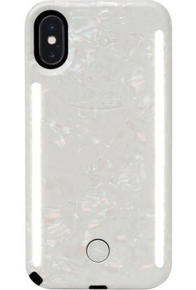 Lumee Duo iPhone X-Pearl White 2
