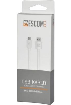 Escom Gold Micro USB Kablo 1 mt