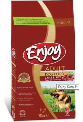 Enjoy Enjoy Yetişkin Kuzu Etli Pirinçli Köpek Maması 10 Kg