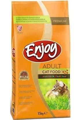 Enjoy Enjoy Yetişkin Renkli Kedi Maması 15 Kg