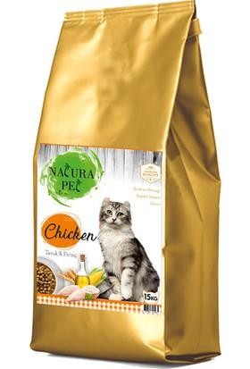 Natura Pet Tavuklu Yetişkin Kedi Maması 15 kg