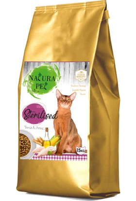 Natura Pet Sterilised Kısırlaştırılmış Kedi Maması 15 kg