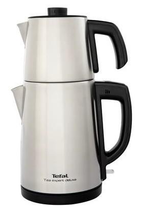 Tefal BJ5098TR Tea Expert Deluxe 1650 Watt Paslanmaz Çelik - Inox Demlikli Çay Makinesi [ Gri ] - 9100036096