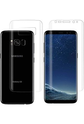 Dafoni Samsung Galaxy S8 Plus Curve Darbe Emici Şeffaf Ön+Arka Ekran Koruyucu Film