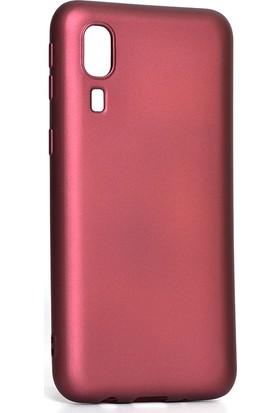 Happyshop Samsung Galaxy A2 Core Kılıf Ultra İnce Mat Silikon Bordo + Cam Ekran Koruyucu