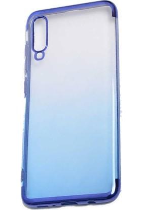 Teleplus Samsung Galaxy A50 Moss Lazer Silikonlu Kılıf Mavi + Nano Ekran Koruyucu