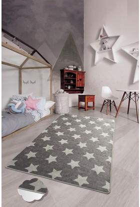 Chilai Home Yıldız 100X160 Cm Gri Çocuk Ve Bebek Halısı