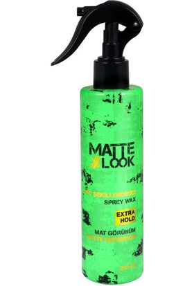Matte Look Mat Görünüm Sprey Wax 250 ML