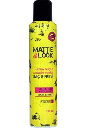 Matte Look Ultra Güçlü Saç Spreyi 250 ML