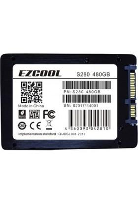 """Ezcool 480 GB S280/480GB 3D Nand 2.5"""" 560-530 Mb/s SSD"""