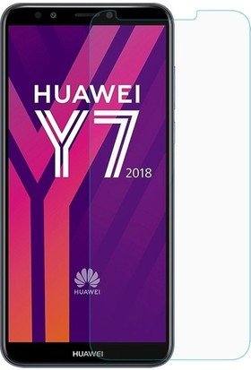 Ehr. Huawei Y7 2018 Nano Ekran Koruyucu Cam + Şeffaf Silikon Kılıf
