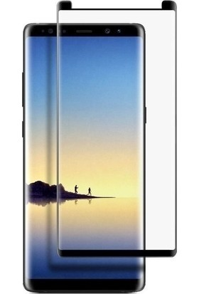 Ehr. Samsung Galaxy Note 8 5D Full Nano Ekran Koruyucu Cam Siyah + Şeffaf Silikon Kılıf