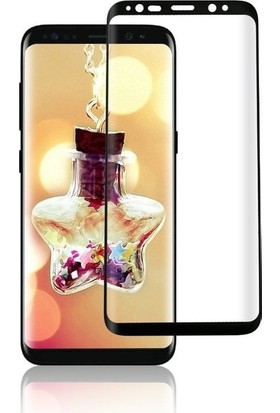 Ehr. Samsung Galaxy S8 Plus 5D Full Nano Ekran Koruyucu Cam Siyah + Şeffaf Silikon Kılıf