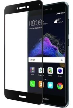 Ehr. Huawei Mate 10 5D Full Nano Ekran Koruyucu Cam Siyah + Şeffaf Silikon Kılıf