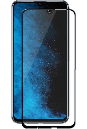 Ehr. Huawei P Smart 2019 5D Full Nano Ekran Koruyucu Cam Siyah + Şeffaf Silikon Kılıf