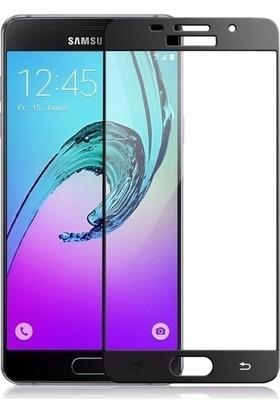 Ehr. Samsung Galaxy C7 Pro 5D Full Nano Ekran Koruyucu Cam Siyah + Şeffaf Silikon Kılıf