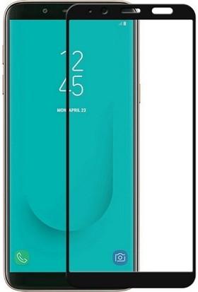Ehr. Samsung Galaxy J6 2018 5D Full Nano Ekran Koruyucu Cam Siyah + Şeffaf Silikon Kılıf
