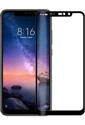 Ehr. Xiaomi Redmi Note 6 Pro 5D Full Nano Ekran Koruyucu Cam Siyah + Şeffaf Silikon Kılıf