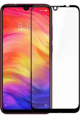 Ehr. Xiaomi Redmi Note 7 5D Full Nano Ekran Koruyucu Cam Siyah + Şeffaf Silikon Kılıf