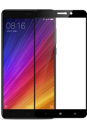 Ehr. Xiaomi Mi 5S Plus 5D Full Nano Ekran Koruyucu Cam Siyah + Şeffaf Silikon Kılıf