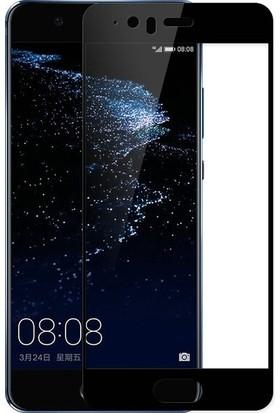 Ehr. Huawei P10 Plus 5D Full Nano Ekran Koruyucu Cam + Siyah Silikon Kılıf