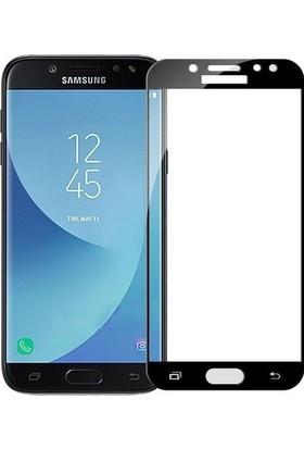 Ehr. Samsung Galaxy J3 Pro 5D Full Nano Ekran Koruyucu Cam + Siyah Silikon Kılıf