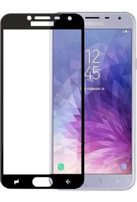 Ehr. Samsung Galaxy J4 2018 5D Full Nano Ekran Koruyucu Cam + Siyah Silikon Kılıf