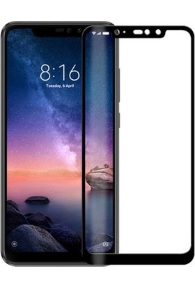 Ehr. Xiaomi Redmi Note 6 Pro 5D Full Nano Ekran Koruyucu Cam + Siyah Silikon Kılıf