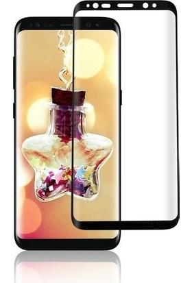 Ehr. Samsung Galaxy S9 Plus 5D Full Nano Ekran Koruyucu Cam + Deri Silikon Kılıf - Siyah