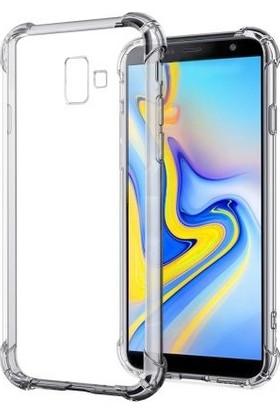 Zengin Çarşım Samsung Galaxy J6 Plus Ultra İnce Şeffaf Airbag Anti Şok Silikon Kılıf - Şeffaf
