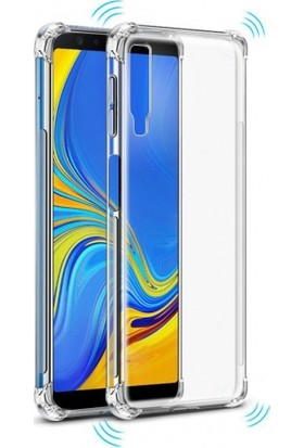 Zengin Çarşım Samsung Galaxy A7 2018 Ultra İnce Şeffaf Airbag Anti Şok Silikon Kılıf - Şeffaf