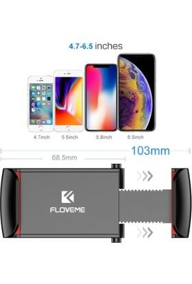 Floveme Vendas Araç İçi Telefon Tutucu - Siyah Kırmızı