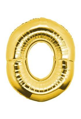 Parti Denizim 0 Rakamı 100 cm 40INC Folyo Balon Altın Parti Denizim