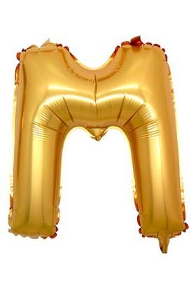 Parti Denizim M Harfi 100 cm 40INC Folyo Balon Altın Parti Denizim