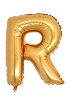 Parti Denizim R Harfi 100 cm 40INC Folyo Balon Altın Parti Denizim