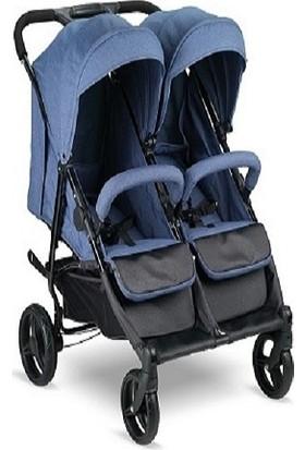 BabyHope BH-3077 City Twin İkiz Bebek Arabası Mavi