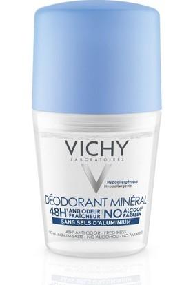 Vichy Alüminyum Tuzu İçermeyen Terleme Karşiti 48 Saat Etkinlik Gösteren Mineral Roll-On