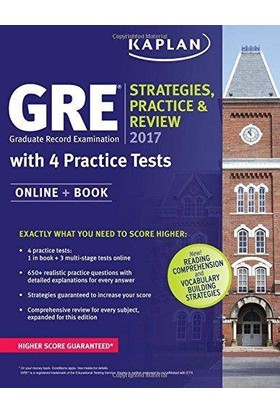 Kaplan Gre 2017 Strategies Practice And Review With 4 Practice Tests - Kaplan
