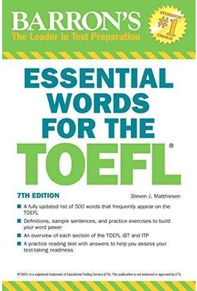 Barron's Essential Words For The Toefl (7th Ed) - Steven J. Matthiesen