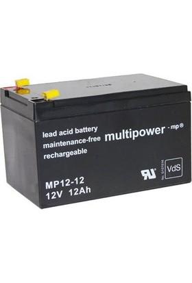 Multipower MP12-12B 12V 12 Ah Kurşun Asit Ups Akü