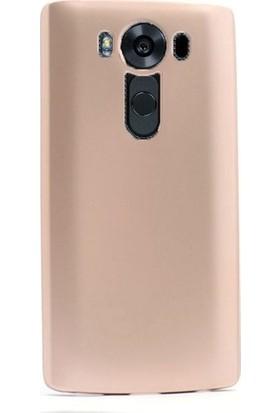 Casestore LG V10 Priming Mat Silikon Arka Kapak Kılıf Gold