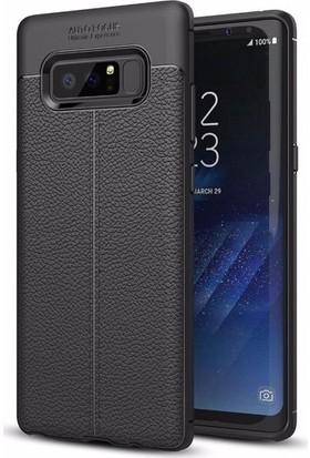 Casestore Samsung Galaxy Note 8 Missing Deri Leather TPU Silikon Kılıf Siyah