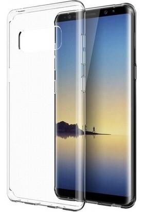 Casestore Samsung Galaxy A8 2018 Ultra Lüx Tam Kaplayan 3D Ekran Koruyucu Cam Siyah + Şeffaf Silikon Kılıf